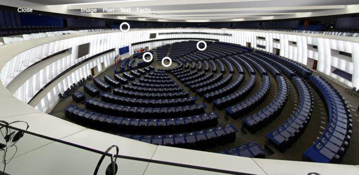 Страсбург, с места для публики