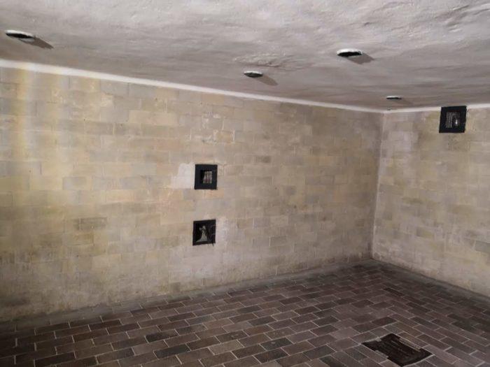 Газовая камера, элементы на потолке имитируют душ