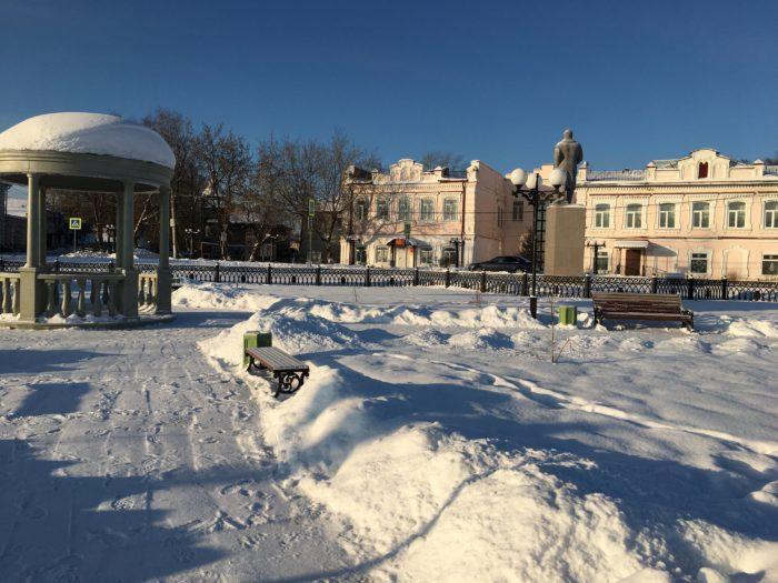 Бисерть, поселок городского типа в Свердловской области. Основан в 1735 году. Розовые здания - краеведческий музей и клуб.
